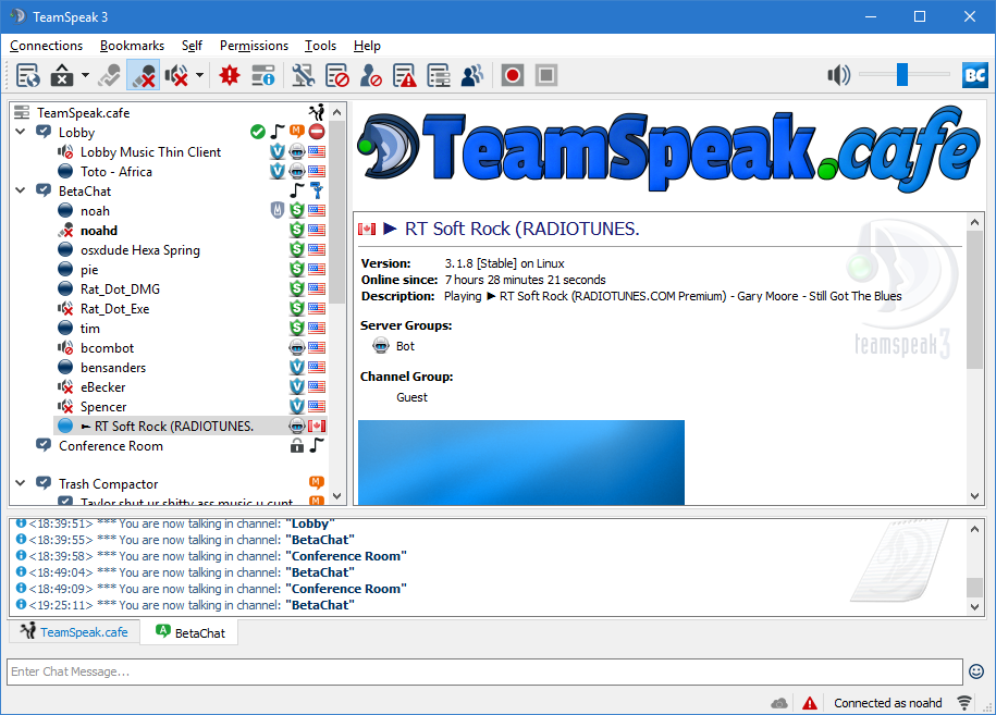 TeamSpeak vs  Discord Audio - Feb 2018